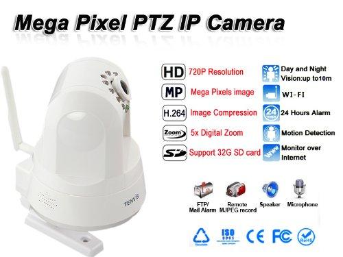 Tenvis IPROBOT3 Blanc Camera IP Reseau IP HD Wifi Infrarouge zoom X5 HD 720p