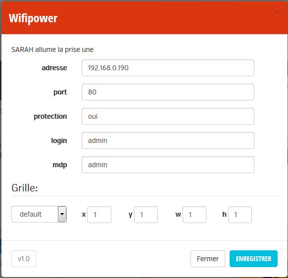 Paramétrage WifiPower