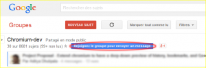 Google groupe chromium