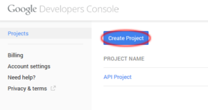 Créez une appli sur la console Google