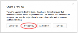Browser key