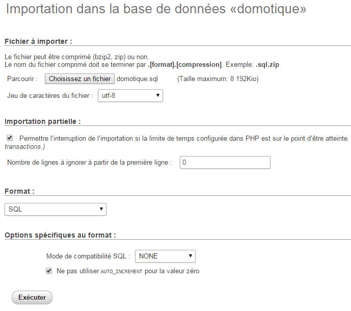 Import Bases SQL