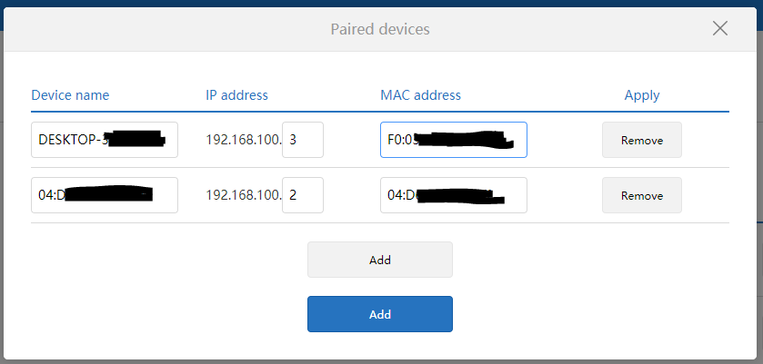 static IP xiaomi router 3